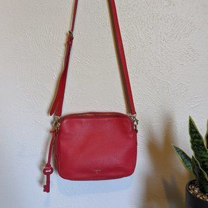 Fossil red piper toaster cross body